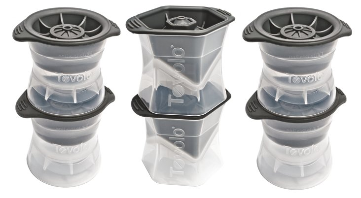 S/6 Assorted Ice Molds, Gray