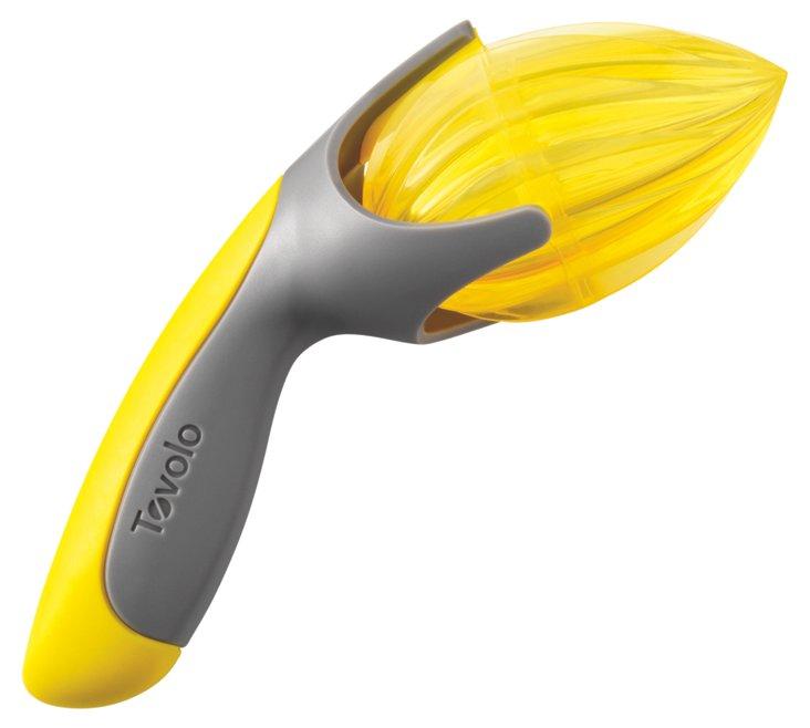 S/2 Handheld Citrus Reamers, Gray/Yellow