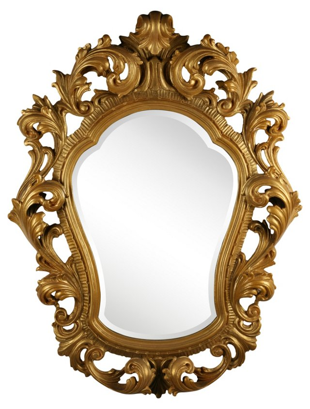 1940s Baroque Carved Mirror