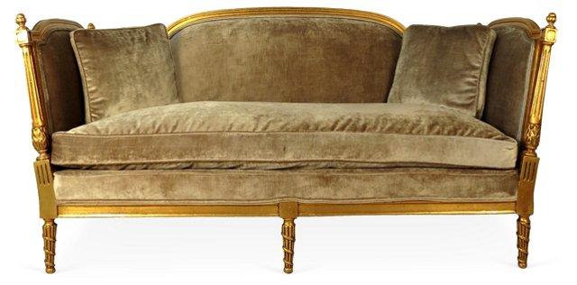 Empire Regency Velvet Sofa