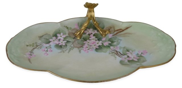 Limoges Floral Dish