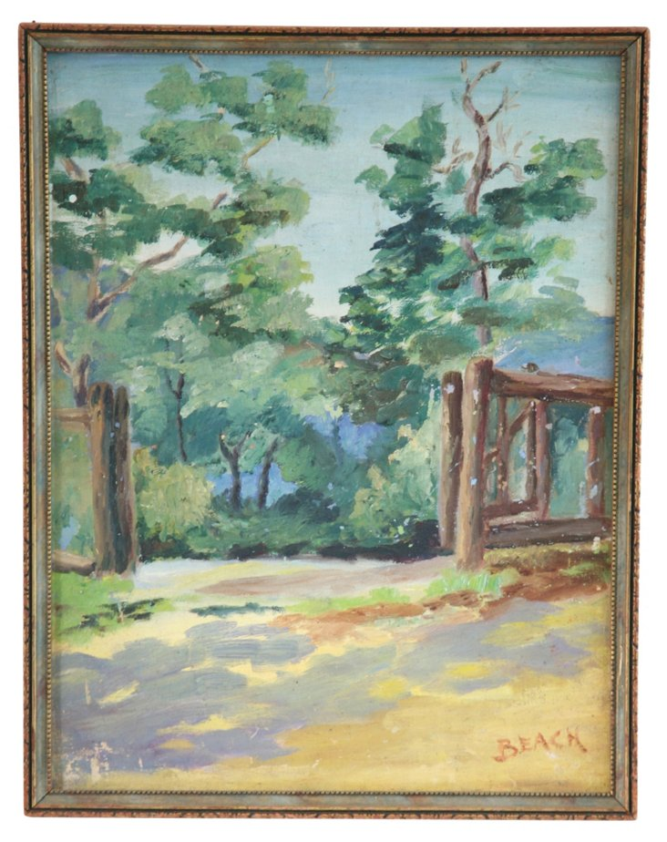 1950s Rural Painting by Beach
