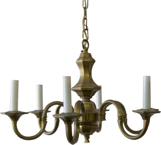 Brass Danish Chandelier