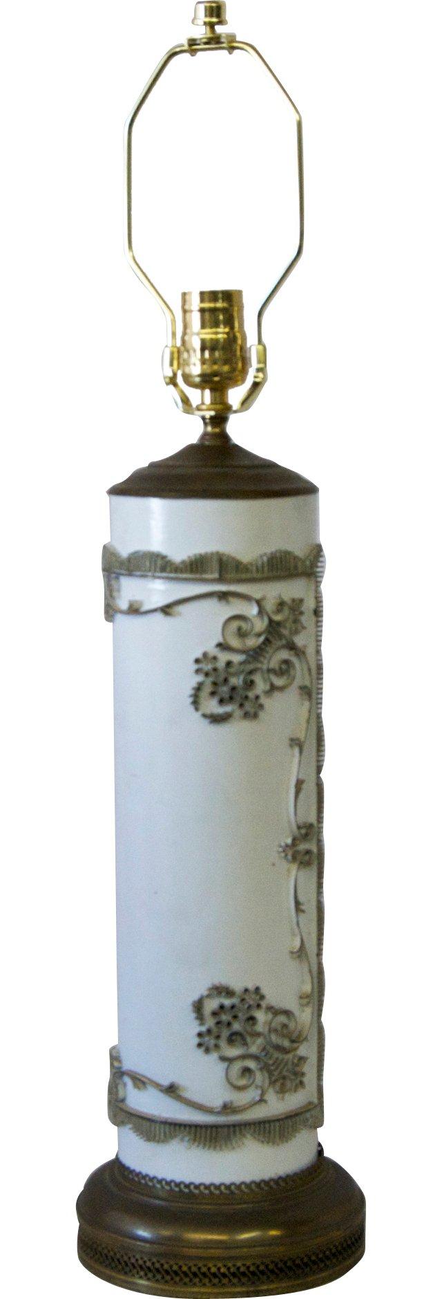 Painted Wallpaper Roller Lamp