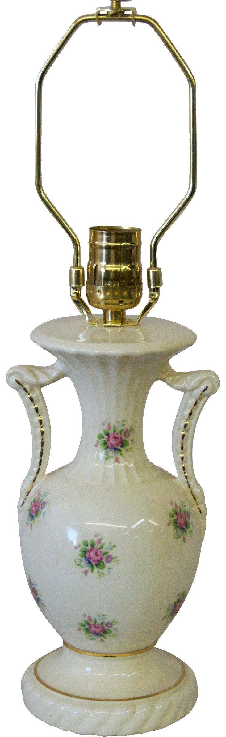 Cottage Rose Urn Lamp