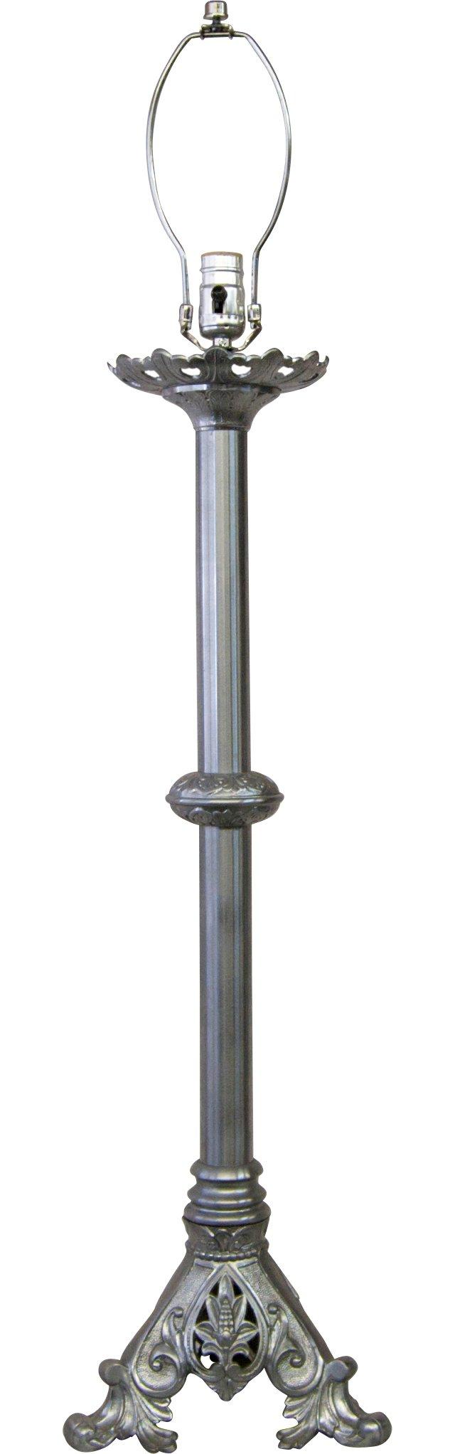 Nickel Candlestick Lamp