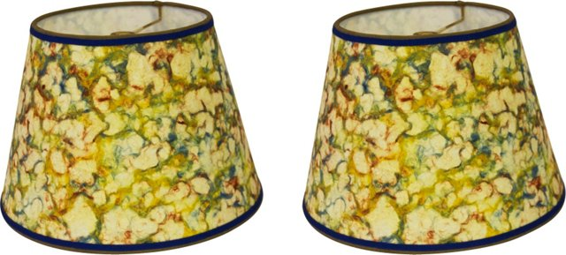 Marble Paper Shades, Pair