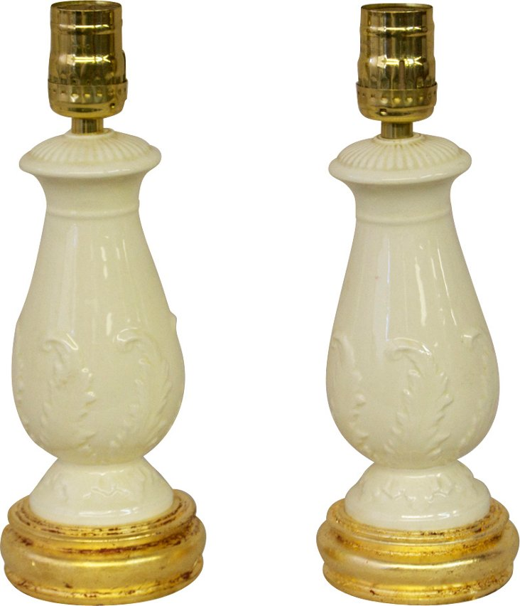 Wedgwood Lamps, Pair
