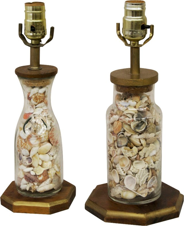 Shell Lamps, Set of 2