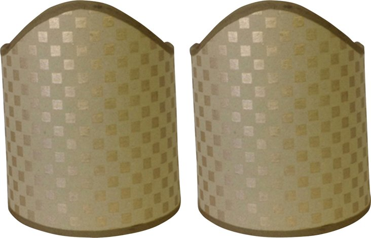 Large Gold Paper Shields, Pair