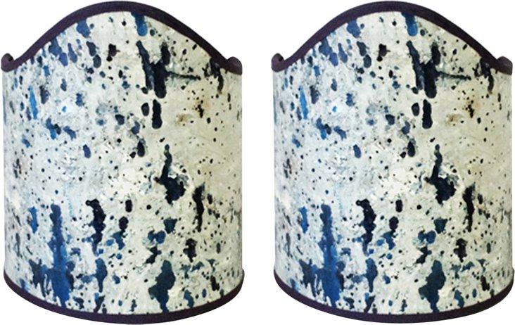Large 19th-C. Splatter Shields, Pair