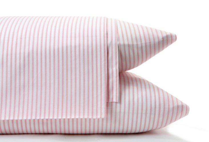 Ticking Sheet Set, Pink