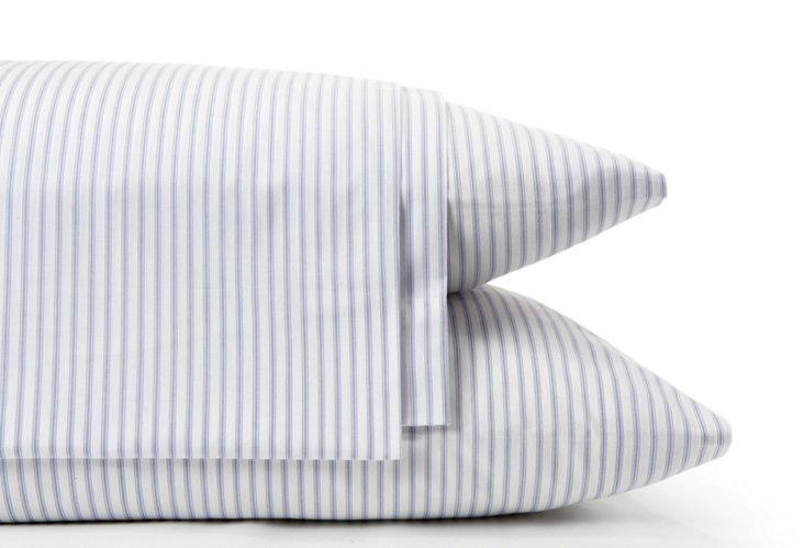 Ticking Sheet Set, Lilac