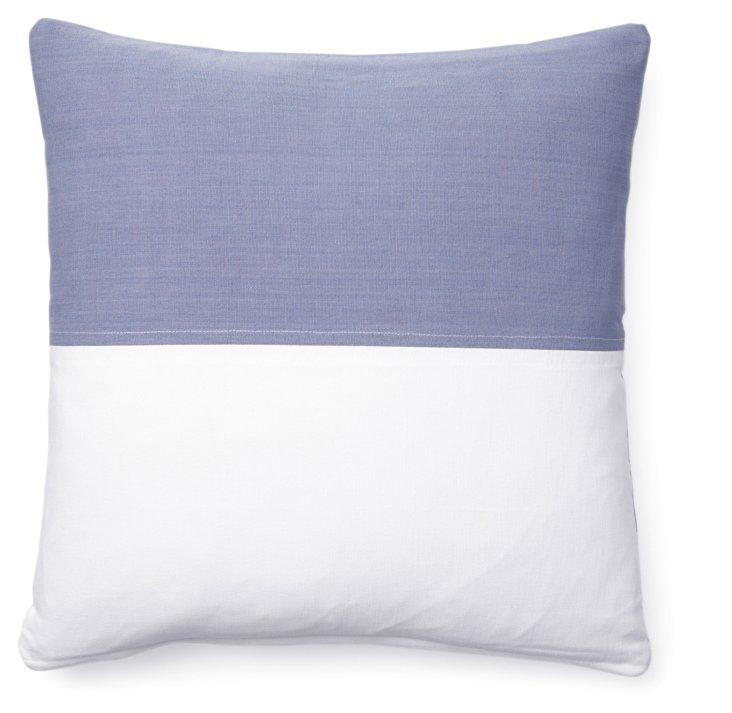 Nautical 18x18 Cotton Pillow, Denim
