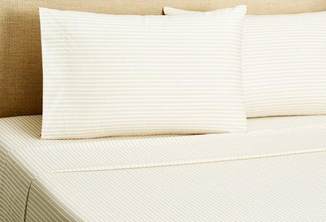 Stripe Sheet Set, Khaki