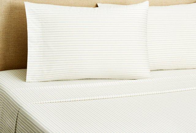 Stripe Sheet Set, Blue