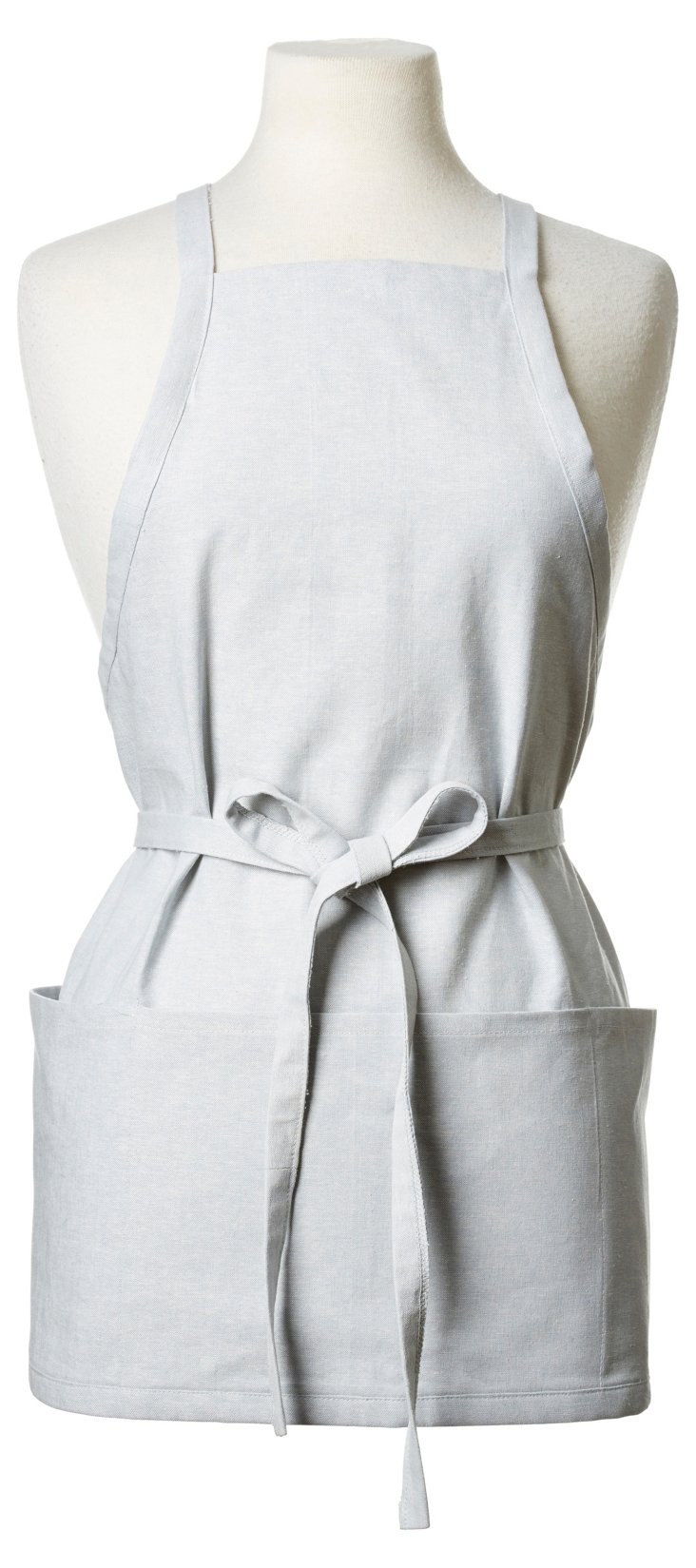 Essex Chambray Short Apron, Blue