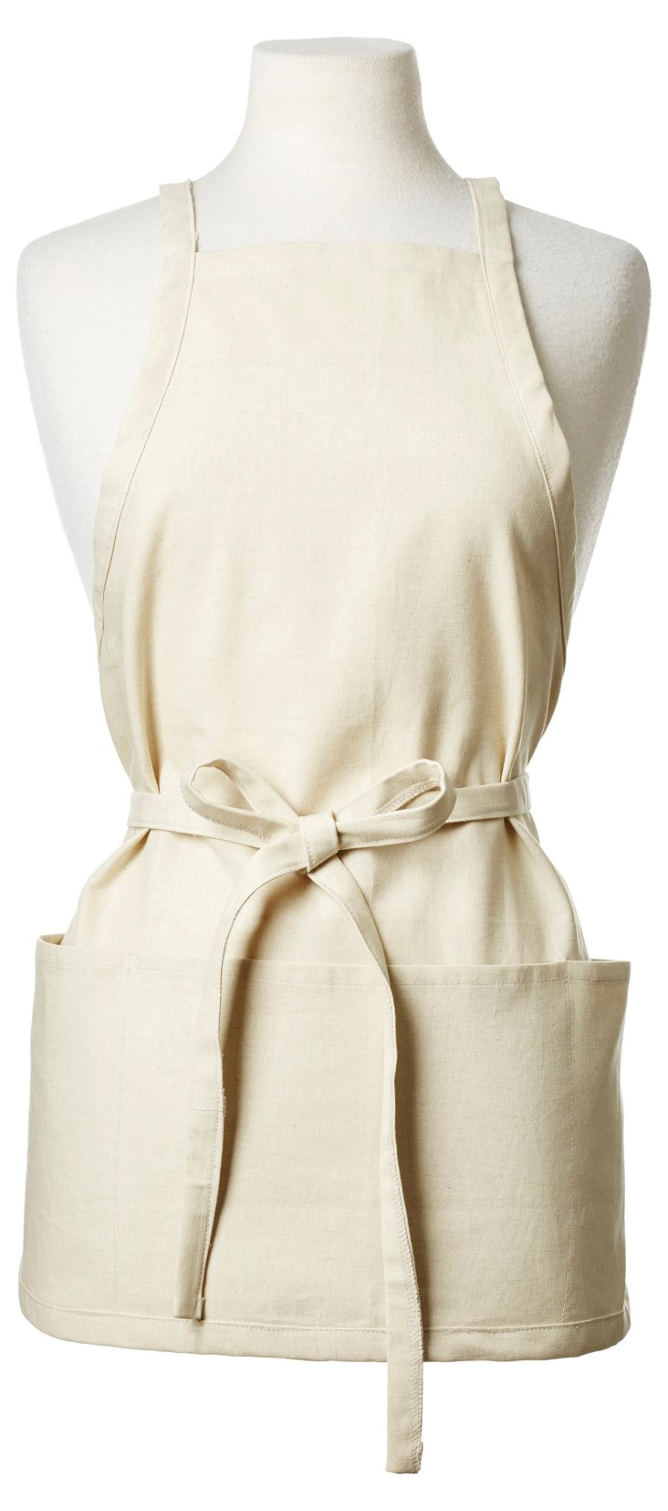 Essex Natural Short Apron, Beige