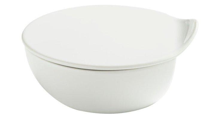 Porcelain Teardrop Lidded Bowl