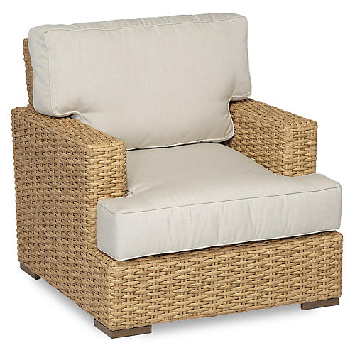 Margate Club Chair, Natural