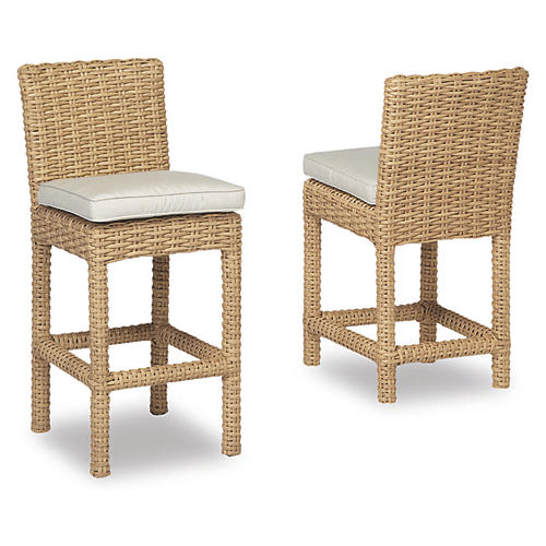 Margate Barstool, Wheat/Ivory