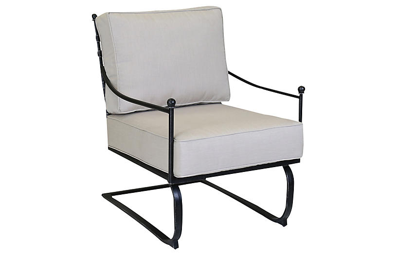Provence Outdoor Rocker, Rich Pewter
