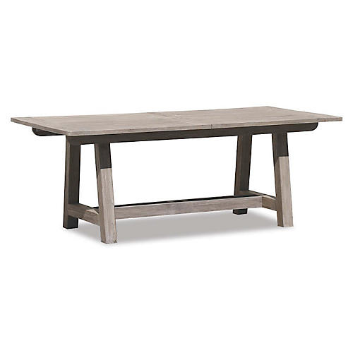 "Olivia Outdoor 79-118"" Dining Table, Gray"