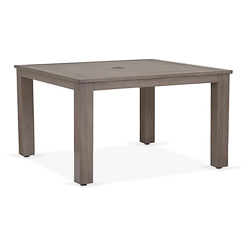 Laguna Square Dining Table, Driftwood
