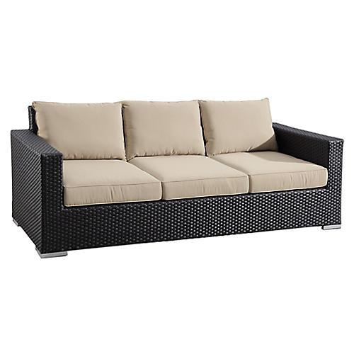 Solana Outdoor Sofa, Ivory Sunbrella