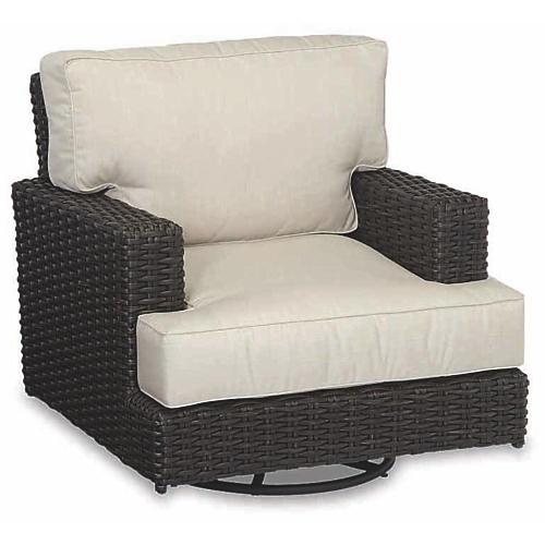Cardiff Swivel Club Chair, Beige Sunbrella
