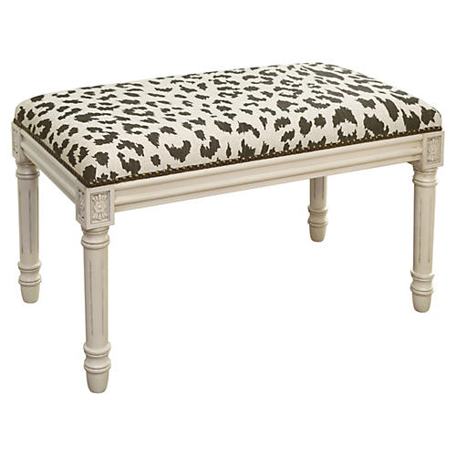 "Ollie 32"" Bench, Brown Leopard"