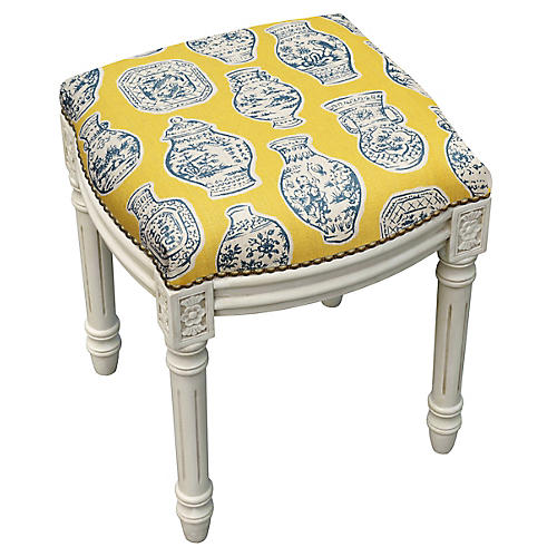 Kara Stool, Yellow Ginger Jar