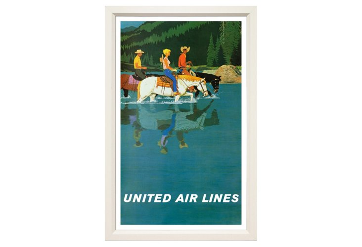 United Airlines Travel Poster