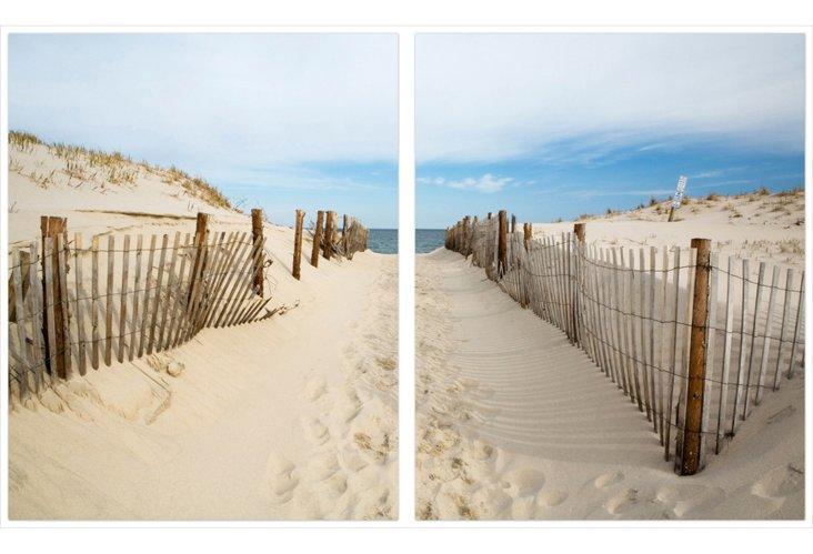 Beach Path, Diptych