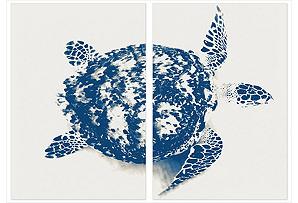 Stuart Redler, Blue Turtle, diptych