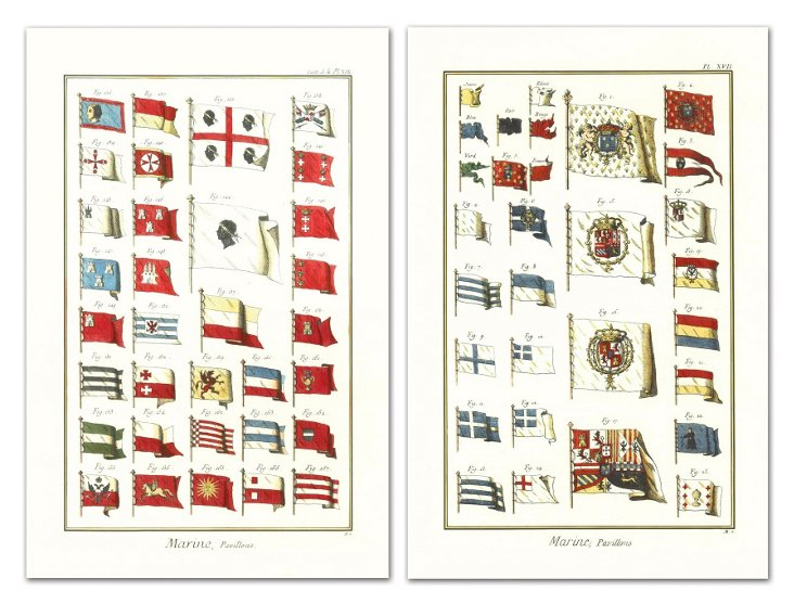 Marine Flags Pavillons II, Set of Two