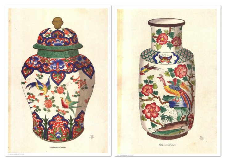 Fourmaintraux  Vases XI Diptych