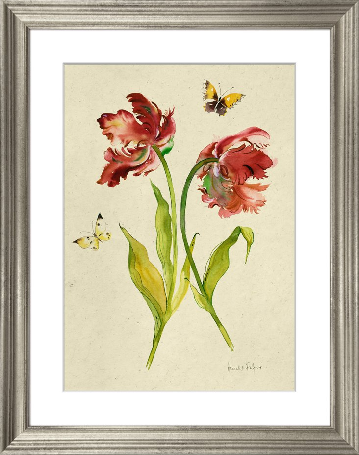 Tulips and Butterflies I