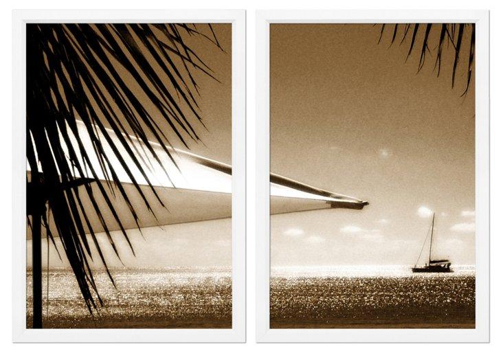 Beach Umbrella Diptych