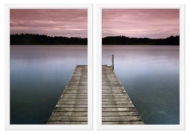 Charlie Waite, Lake Pier Diptych