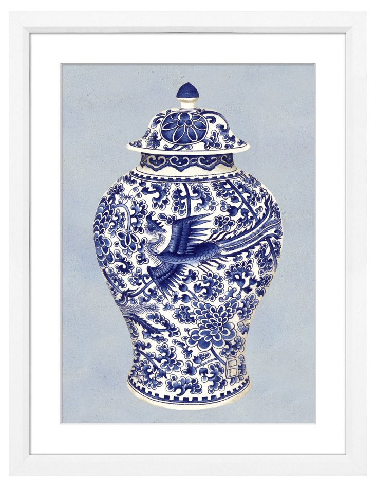 Chinoiserie Blue Pot I