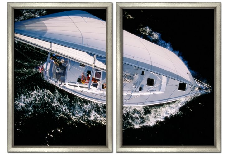 Aerial Yacht Diptych