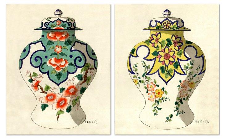 Fourmaintraux Vases II, Set of 2