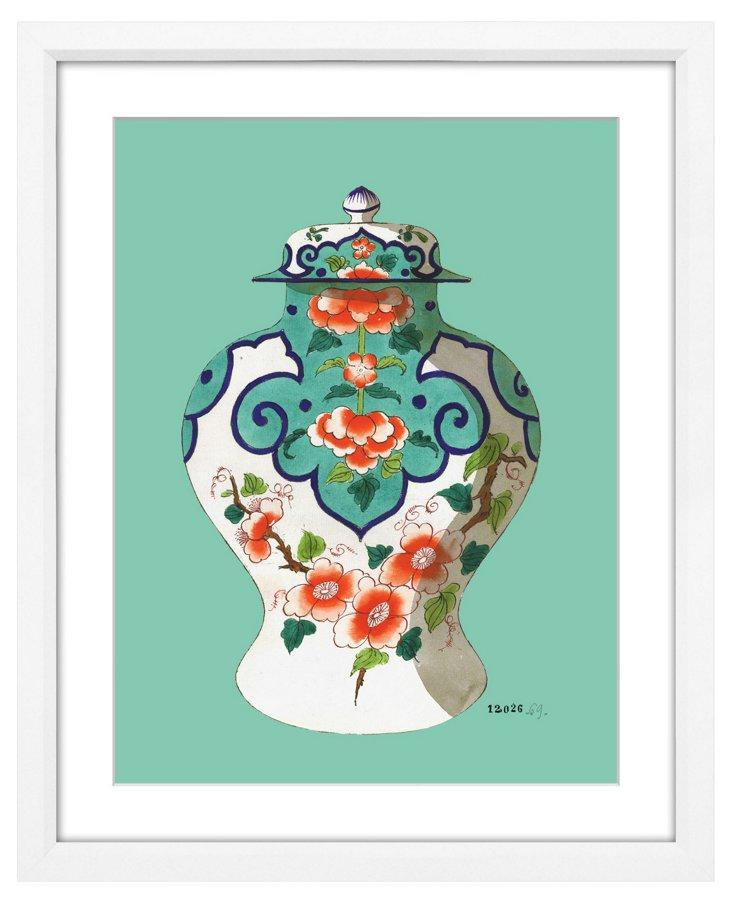Fourmaintraux Teal Vases III