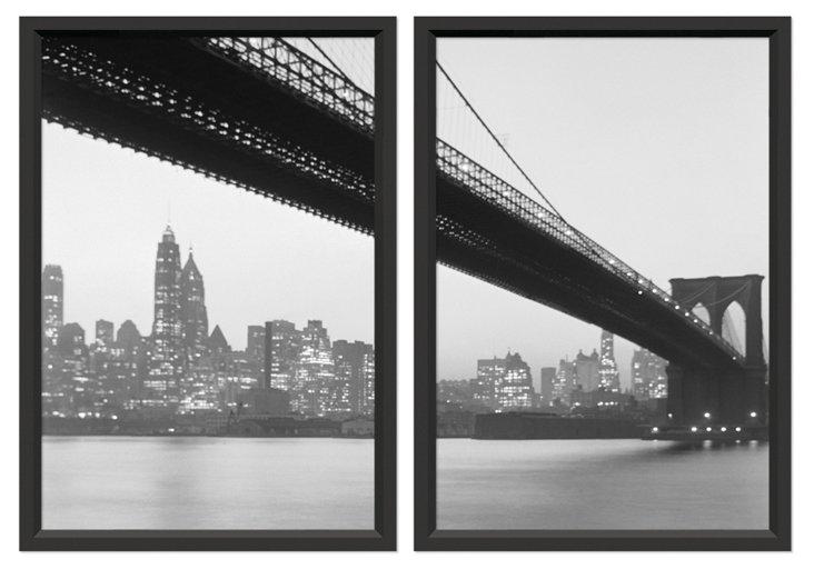 Manhattan Skyline Diptych