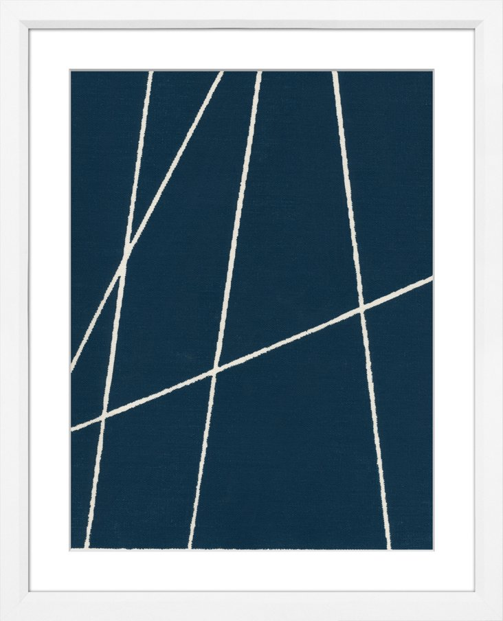 Navy Blue Abstract II