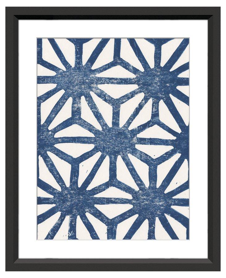 Sienna Maddox, Blue Pattern Lino III