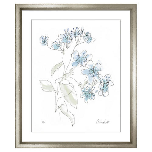 Minnie Carter, Flowers Blue I