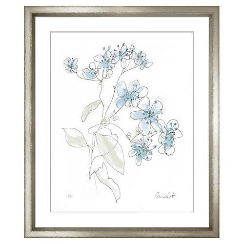 Minnie Carter, Flowers Blue I