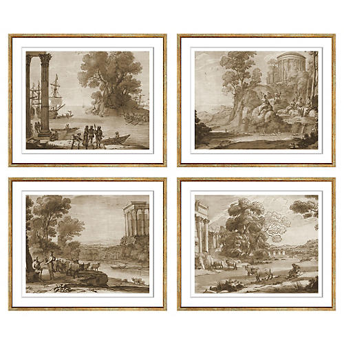 Claude Lorrain, Set of 4